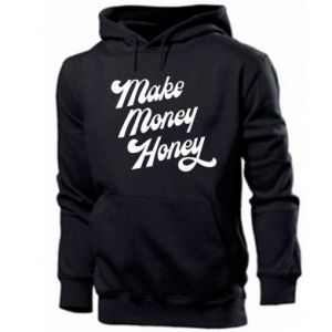 Męska bluza z kapturem Make money honey
