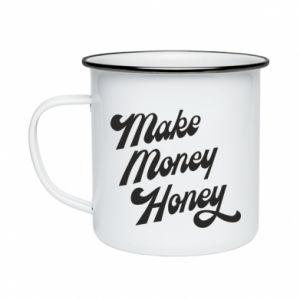 Kubek emaliowane Make money honey