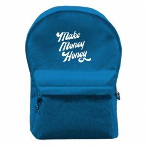 Plecak z przednią kieszenią Make money honey