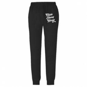 Męskie spodnie lekkie Make money honey