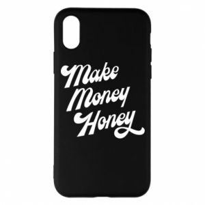 Etui na iPhone X/Xs Make money honey