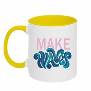 Two-toned mug Make wawes