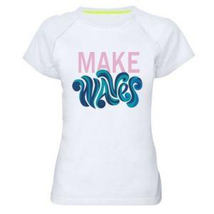 Koszulka sportowa damska Make wawes