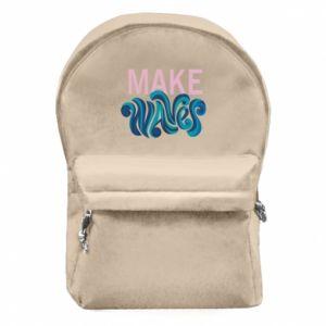 Plecak z przednią kieszenią Make wawes