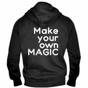 Męska bluza z kapturem na zamek Make your own MAGIC