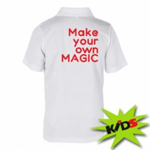 Dziecięca koszulka polo Make your own MAGIC