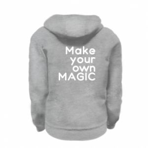 Kid's zipped hoodie % print% Make your own MAGIC