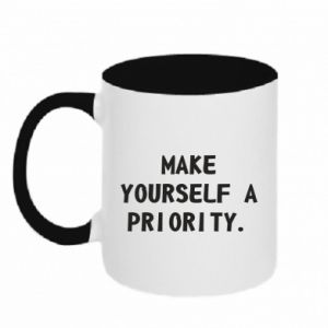 Kubek dwukolorowy Make yourself a priority