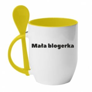 Mug with ceramic spoon Little blogger