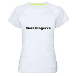 Damska koszulka sportowa Mała blogerka
