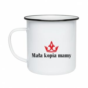 Enameled mug Little copy of mom - PrintSalon