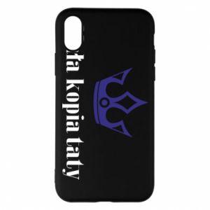Phone case for iPhone X/Xs Little copy of dad - PrintSalon