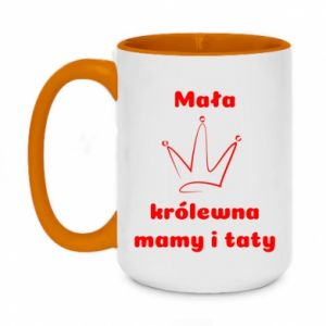 Two-toned mug 450ml Little princess mothers and fathers