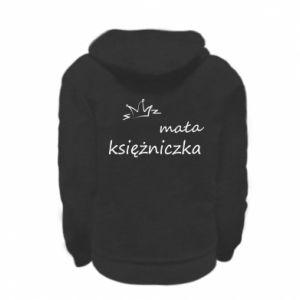 Kid's zipped hoodie % print% Little princess
