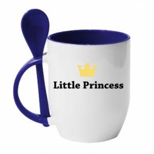 Kubek z ceramiczną łyżeczką Little princess