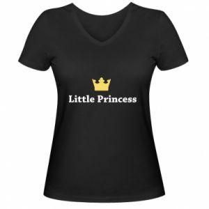 Damska koszulka V-neck Little princess