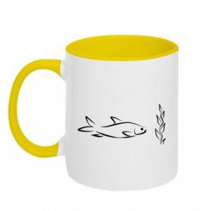 Kubek dwukolorowy Maleńka rybka