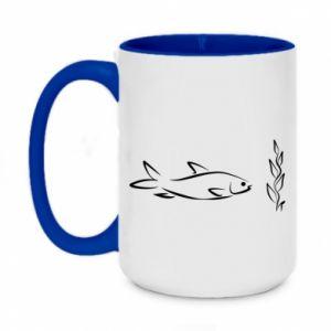 Kubek dwukolorowy 450ml Maleńka rybka