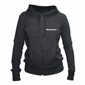Women's zip up hoodies Little blogger boy - PrintSalon