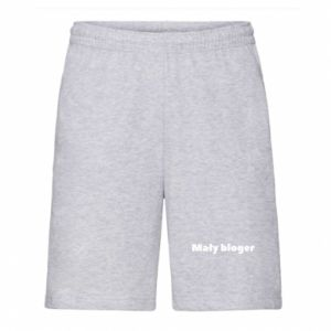 Men's shorts Little blogger boy - PrintSalon