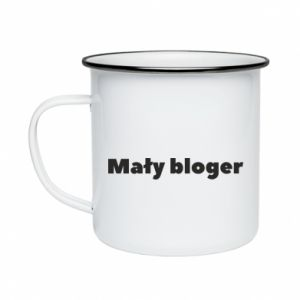 Enameled mug Little blogger boy - PrintSalon
