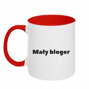 Two-toned mug Little blogger boy - PrintSalon