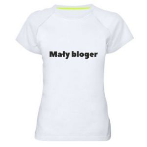 Women's sports t-shirt Little blogger boy - PrintSalon