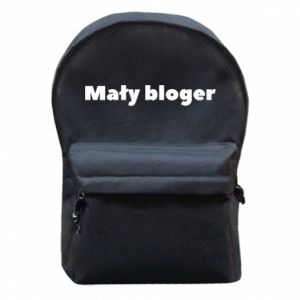 Backpack with front pocket Little blogger boy - PrintSalon