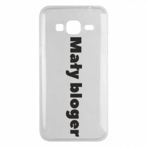 Phone case for Samsung J3 2016 Little blogger boy - PrintSalon
