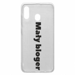 Phone case for Samsung A20 Little blogger boy - PrintSalon