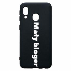 Phone case for Samsung A40 Little blogger boy - PrintSalon