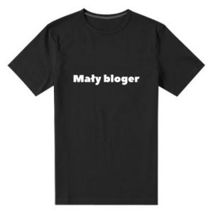 Men's premium t-shirt Little blogger boy - PrintSalon