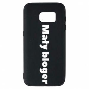 Phone case for Samsung S7 Little blogger boy - PrintSalon