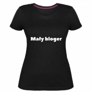 Women's premium t-shirt Little blogger boy - PrintSalon