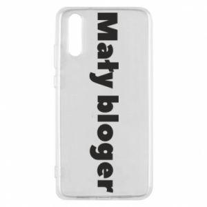 Phone case for Huawei P20 Little blogger boy - PrintSalon