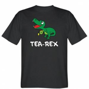 T-shirt Little dinosaur with tea