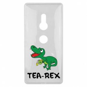 Etui na Sony Xperia XZ2 Mały dinozaur z herbatą