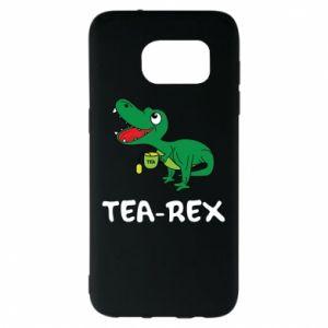 Etui na Samsung S7 EDGE Mały dinozaur z herbatą