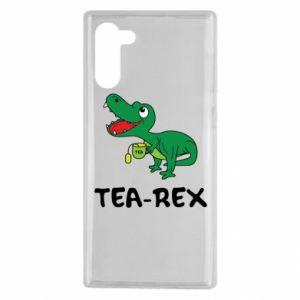 Etui na Samsung Note 10 Mały dinozaur z herbatą