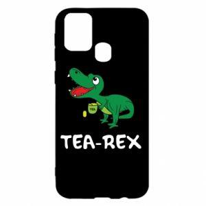 Etui na Samsung M31 Mały dinozaur z herbatą