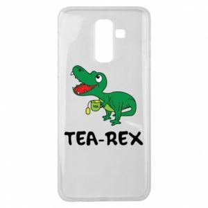 Etui na Samsung J8 2018 Mały dinozaur z herbatą
