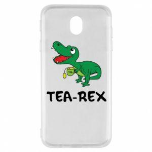 Etui na Samsung J7 2017 Mały dinozaur z herbatą