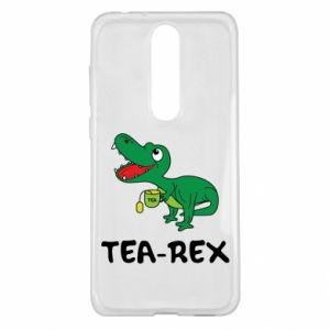 Etui na Nokia 5.1 Plus Mały dinozaur z herbatą