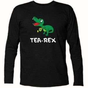 Long Sleeve T-shirt Little dinosaur with tea