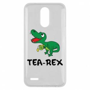 Etui na Lg K10 2017 Mały dinozaur z herbatą