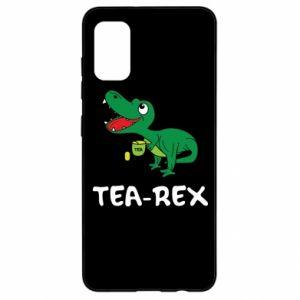Etui na Samsung A41 Mały dinozaur z herbatą