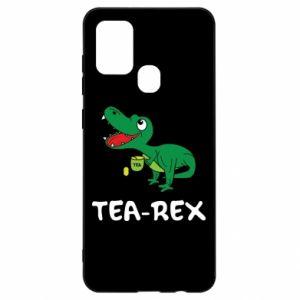 Etui na Samsung A21s Mały dinozaur z herbatą
