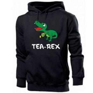 Męska bluza z kapturem Mały dinozaur z herbatą