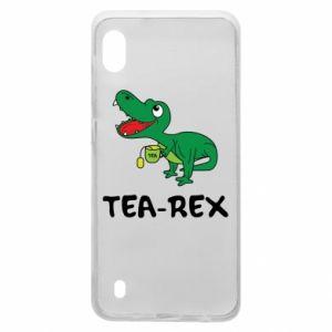 Etui na Samsung A10 Mały dinozaur z herbatą