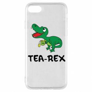 Etui na iPhone SE 2020 Mały dinozaur z herbatą